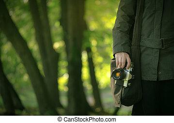 探検, 自然, 春, 写真, 情報通, 女性, カメラマン, 作成, 風景