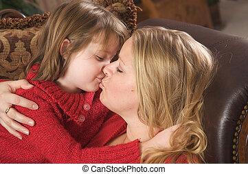 接吻, 娘, 母