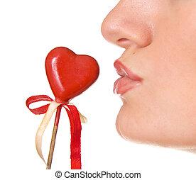 接吻, 心