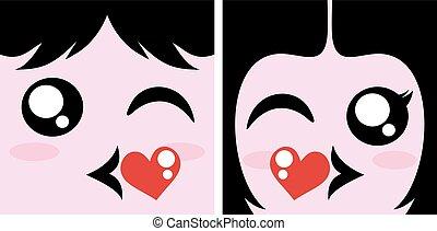接吻, 恋人, シンボル