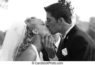 接吻, 恋人