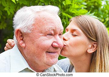 接吻, 祖父