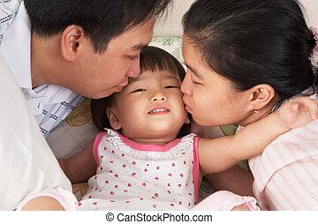 接吻, 親, 娘