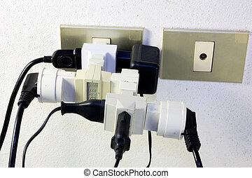 接続, ひどく, 電気である