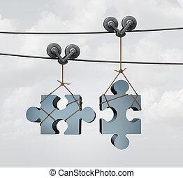接続, パズル小片