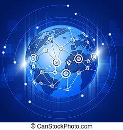 接続, 地球, ネットワーク