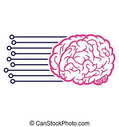 接続, 脳, raster, アイコン