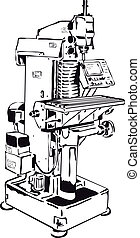 控制, 機器, 常規, 銑軋, 面板