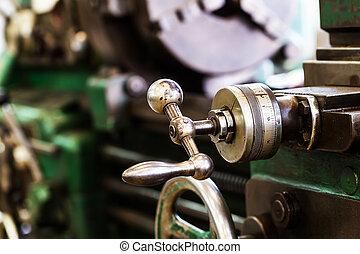控制, 機器, 設備, 老, 轉動