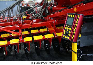 控制, 農業, harrow, 面板