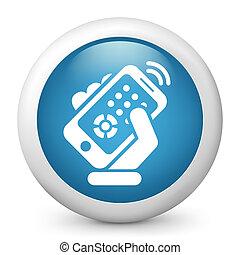 控制, smartphone, 遙遠, 圖象