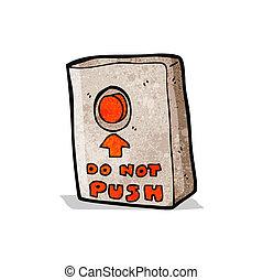 推, 按鈕, 卡通