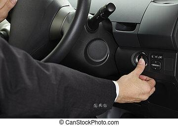 推, 汽車, 啟動按扭