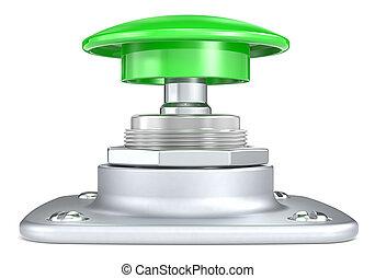 推, 綠色, 按鈕