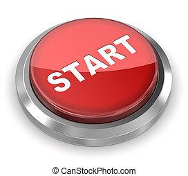 推, 開始, 按鈕,  -