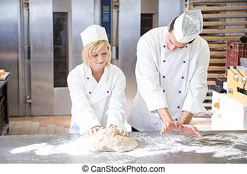 揉, 麵包師, 指示, 金錢, 學徒, bread