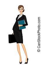 描述商业, 妇女, 套间