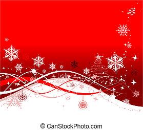 描述, 圣诞节, 背景, 矢量, 设计, 假日, 你