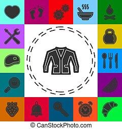 描述, -, 外套, 方式, 衣服, 隔离, 矢量, 穿