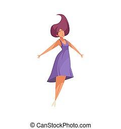 描述, 妇女, 跳跃