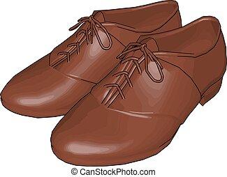 描述, 鞋子, 背景。, 矢量, 模型, 白色