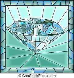 描述, diamond., 马赛克