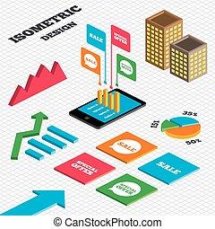 提供, セール, icons., シンボル, スピーチ, 泡, 特別