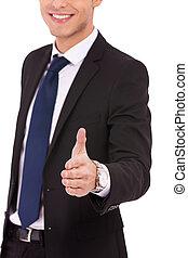 提供, 人, ビジネス, 握手