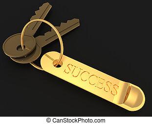 提供, 成功, 插圖, 概念, 鑰匙, 3d