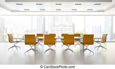 提供, 桔子, 内部, 扶手椅子, 会议室, 2, 3d