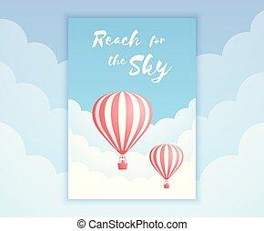 提供, promo, balloon, 空, 空気, 暑い, 冒険休日
