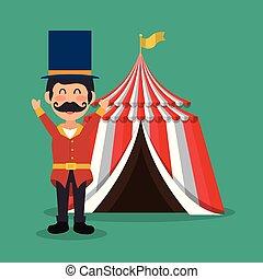 提出者, サーカスのテント