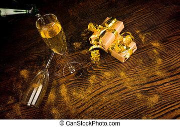提出, 香檳酒