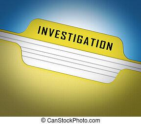 提示, イラスト, 犯罪, 検出, 調査, 法的, 犯罪, フォルダー, 犯罪者, 3d