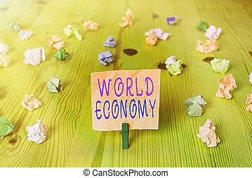 提示, インターナショナル, 市場, お金, economy., 取引しなさい, 世界的に, 世界的である, 世界, exchange., テキスト, 概念, 印, 写真