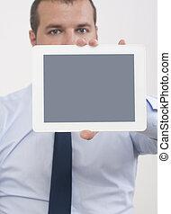 提示, スクリーン, タブレット, デジタル