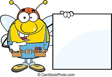 提示, ブランク, 労働者の 蜂, 印