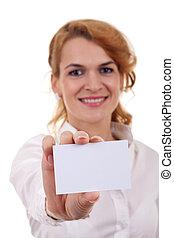 提示, 女, カード