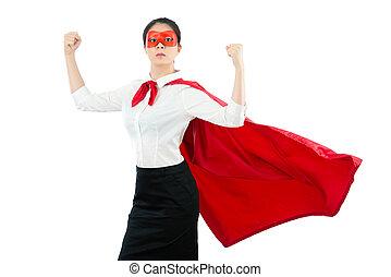 提示, 強い, superhero, 彼女, 筋肉