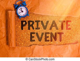 提示, 排他的, rsvp, seated., 私用, event., 予約, テキスト, 概念, ...