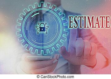 提示, estimate., ビジネス, ナンキン錠, 数, showcasing, 写真, 網, ∥あるいは∥, ...