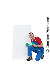 提示, poster., 画家, ブランク