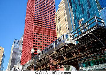 提高火车, 在中, 芝加哥