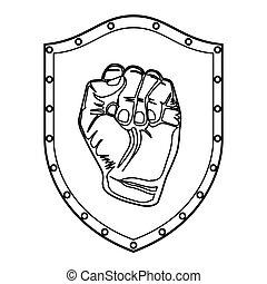 提高, 符號, 拳頭
