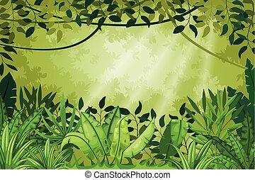 插圖, 叢林, 風景