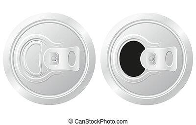 插圖, 啤酒, 矢量, 罐頭, 關閉, 打開