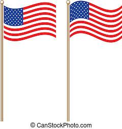 插圖, ......的, 美國的旗