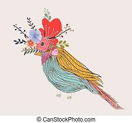 插圖, ......的, a, 很少, 鳥