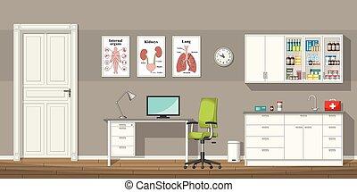 插圖, ......的, a, 醫生, 辦公室