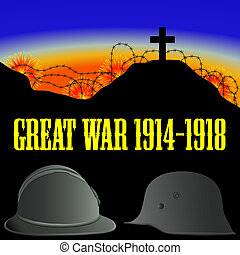插圖, ......的, the, 首先, 世界, 戰爭, (the, 偉大, war)